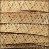 10mm flat GEOMETRIC WEAVE leather NATURAL- per meter