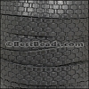 10mm flat BASKETWEAVE leather BLACK - per meter