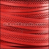 10mm flat IMPRINTED BRAID leather RED- per 10m SPOOL