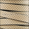 10mm flat PERFORATED leather NATURAL WITH BLACK - per meter