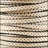 5mm flat PERFORATED leather NATURAL WITH BLACK- per 10m SPOOL