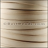 10mm flat BRUCIATO leather NATURAL- per 20m SPOOL
