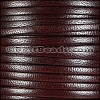 5mm flat CAMEL leather BURGUNDY - per 5 meters