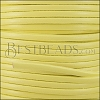 3mm flat leather CANDY LEMON - meter