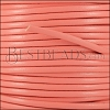 3mm flat leather CANDY CORAL - meter