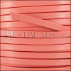 5mm flat leather CANDY CORAL - meter