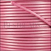 3mm flat leather CANDY SHIMMER FUCHSIA - meter