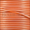 3mm flat leather CANDY SHIMMER ORANGE - meter