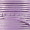 3mm flat leather CANDY SHIMMER LILAC - meter
