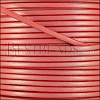 3mm flat leather CANDY SHIMMER RED - meter