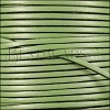 3mm flat leather CANDY SHIMMER GREEN - meter