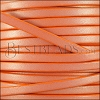 5mm flat leather CANDY SHIMMER ORANGE - meter