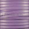 5mm flat leather CANDY SHIMMER LILAC - meter