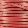 5mm flat leather CANDY SHIMMER RED - meter
