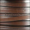 8mm flat leather CHOCOLATE BROWN- per 20m SPOOL