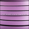 8mm flat leather LILAC- per 2 meters
