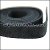 Half Inch Suede Strips BLACK-36 inches