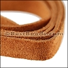 Half Inch Suede Strips MED. BROWN-36 inches