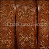 30mm flat ENGRAVED leather SADDLE - per meter
