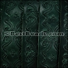 30mm flat ENGRAVED leather GREEN - per meter