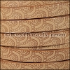 10mm Flat EMBOSSED leather STYLE 1 NATURAL - per 10m SPOOL