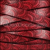 10mm Flat EMBOSSED leather STYLE 1 RED with BURGUNDY - per 10m SPOOL