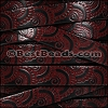 10mm Flat EMBOSSED leather STYLE 1 BLACK with BURGUNDY - per 10m SPOOL