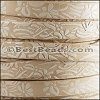 10mm flat EMBOSSED FLORAL leather NATURAL - meter