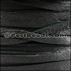 3mm European Deerskin Lace BLACK - per 20 meter spool