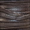 3mm European Deerskin Lace CHOCOLATE BROWN - per 20 meter spool