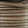 3mm European Deerskin Lace TAUPE - per 20 meter spool