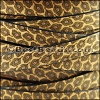 10mm flat EURO PRINTED leather ANIMAL COLLAGE - per 2 meters
