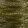 5mm flat HAIR ON leather KHAKI GREEN - 1 meter