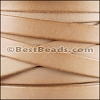 10mm flat leather ALL NATURAL NO WAX- per 2 meters