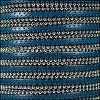 10mm flat BALL CHAIN leather ROYAL BLUE - per 1 meter