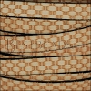 10mm flat BASKETWEAVE leather NATURAL with BLACK - per 10m SPOOL