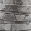 10mm flat CAMO SUEDE leather GREY - per 1 meter