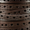 8mm flat DELUX PUNCHED leather BROWN- per meter