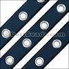 10mm flat EYELET leather PACIFIC BLUE - 1 meter