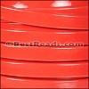 10mm Flat PATENT leather CORAL - per 2 meters