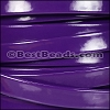 10mm Flat PATENT leather PURPLE - per 2 meters