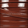 10mm Flat PATENT leather BROWN - per 2 meters