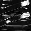 10mm Flat PATENT leather BLACK - per 2 meters