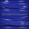10mm Flat PATENT leather BLUE - per 2 meters