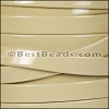 10mm Flat PATENT leather BEIGE - per 2 meters