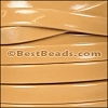 10mm Flat PATENT leather CAMEL - per 2 meters
