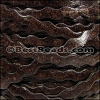 5mm flat RIC RAC leather DISTRESSED BROWN - meter