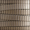 10mm flat STRIPED leather METALLIC TAUPE & BRONZE - meter