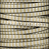 5mm flat STRIPED leather MET GOLD & SILVER - per 5 meters