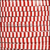 5mm flat STRIPED leather RED & WHITE - per 5 meters